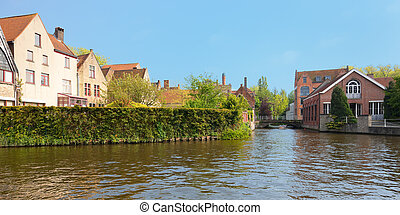 Wonderful channels of Brugge, Belgium. GPS information is in...