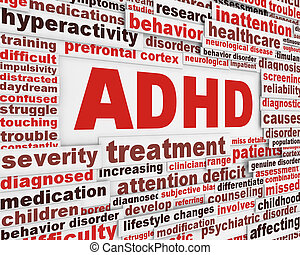 ADHD message concept. Attention deficit hyperactivity...
