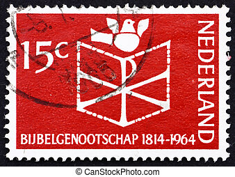 Postage stamp Netherlands 1964 Bible, Chrismon and Dove -...