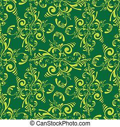 floral green tile