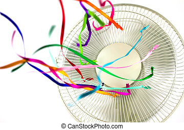 Ventilator with Ribbons - Ventilator with colored silk...
