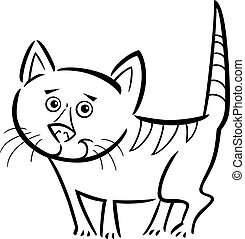 cat or kitten for coloring book