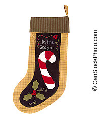 Christmas candy cane Stocking - Handmade Christmas candy...