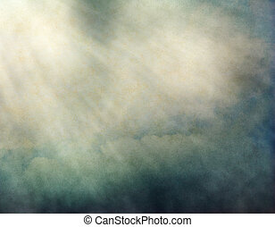 Textured Light Rays - Fog and clouds with streaks of light...
