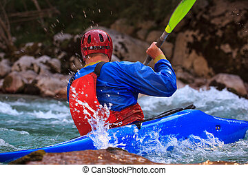 Kayaking on the Soca river, Slovenia - Kayaking in the...