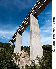 High Italian Motorway aka Autostrada - feat of engineering -...