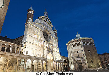 Cremona, Duomo - The medieval cathedral of Cremona Lombardy,...
