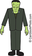 Cartoon FrankNStein - A cartoon depiction of the classic...