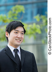 Portrait of an Asian business man. - Portrait of an Asian...