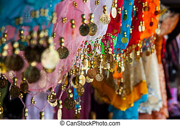 Belly dance costume details, tunisian bazar