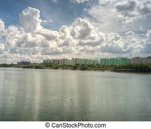 Punggol Waterway, Singapore The newly build Punggol Waterway...