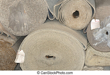 Carpet by the roll - Warehouse has rolls of earthtone carpet...