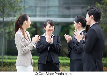 otro, equipo, empresa / negocio, Aplaude, cada