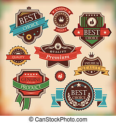 vintage labels and badges - set of vintage labels and badges...