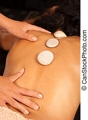 Hot stones massage. - A therapy of hot stones massage spa.