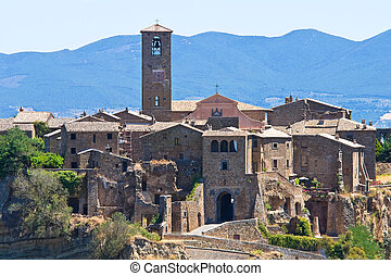 Panoramic view of Civita di Bagnoregio. Lazio. Italy.