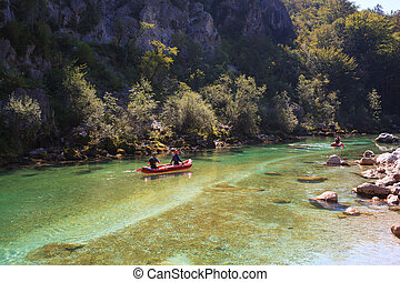 Minirafting on the Soca river, Slovenia - Minirafting in the...