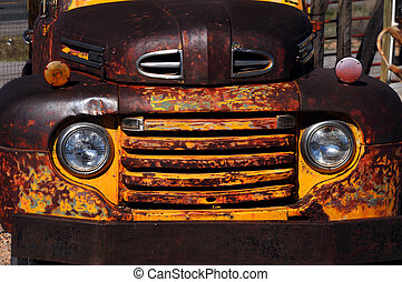 Aging and rusty truck - Vintage Ford truck rusts as it is...