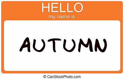 Autumn Name Tag