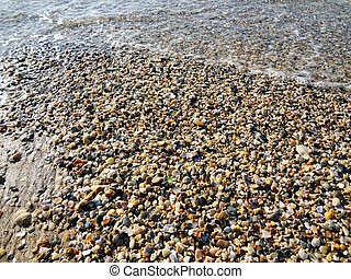 sea-shore - the easy wave of marine wave is washed by a bank...
