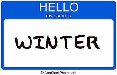Winter Name Tag