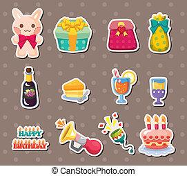 birthday element stickers