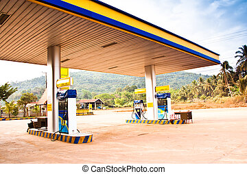 Gas station. - Stations in the provinces.