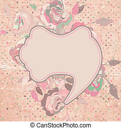 Vintage flowers card template design. EPS 8