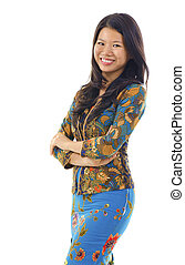 Asian woman in Kebaya, kebaya usually worn by women in...