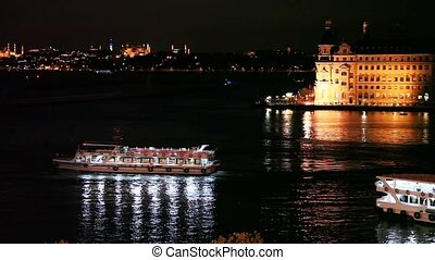 passenger ship - kadikoy and haydarpasha dock at istanbul...