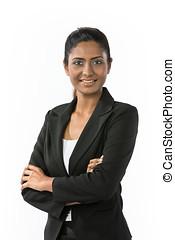 Portrait of a happy Indian businesswoman. - Portrait of a...