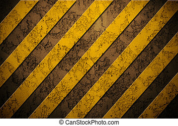 Danger background on concrete wall