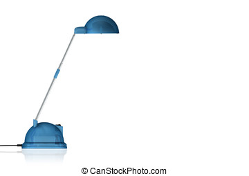 blue lamp on white - nlue lamp on white background -...