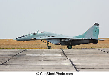 Russian tactical jet fighter MiG-29 on the ground