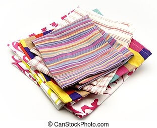 Several colored cloth napkins