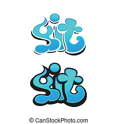 graffiti vector design - graffiti or tattoo design. Vector...