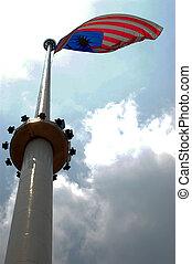 Malaysian flag Kuala Lumpur - Big Malaysian flag in Kiala...