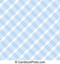 Light blue Plaid Fabric Background - A light blue plaid...