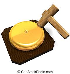 GongAndHammer - Gong And Hammer. 3D render illustration....