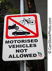 Parking road sign at Singapore street - Road sign at...