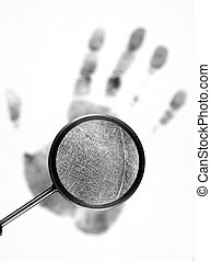 Fingerprint on white background.