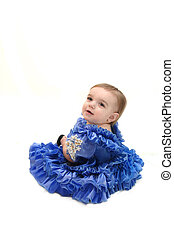 Baby Princess - Baby is dressed in pageant dress in...