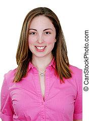 肖像, 婦女, 年輕,  Headshot