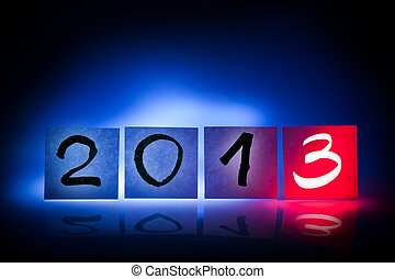nouveau, année, 2013, concept, lumière,...