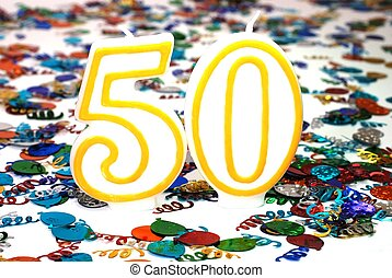 Celebration Candle - Number 50 - Number 50 celebration...