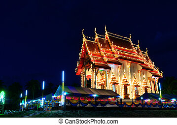 The thai church - The exterior thai church is decorated with...