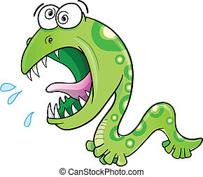 Insane Crazy Wild Worm Vector art - Insane Crazy Wild Worm...
