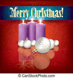 Abstract greeting with candles and