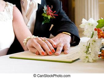 registrazione, ufficio, matrimonio