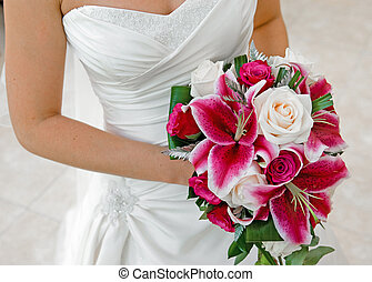 Wedding Bouquet - Bride holding wedding bouquet